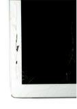 Broken Tablet. A Broken Tablet on white background stock image