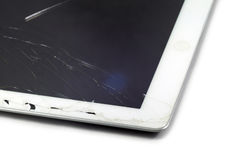 Broken Tablet. A Broken Tablet on white background Stock Images