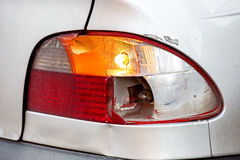 Broken tail lamp. Royalty Free Stock Photography