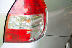 Broken tail light because accident Stock Photos