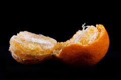 Broken tangerine Royalty Free Stock Images