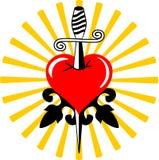 Broken tattoo heart Stock Images