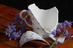 Broken tea cup Stock Image
