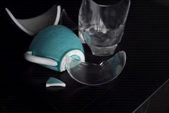Broken Teacup And Glass Stock Image