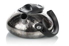 Broken teapot isolated Stock Photography