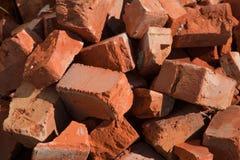Broken tegelsten Fotografering för Bildbyråer