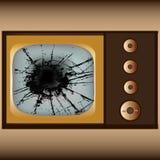 Broken Television Stock Photo