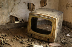 Broken Television Stock Photo