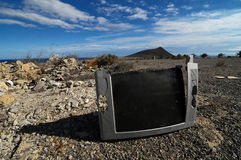 Broken Television Stock Photography