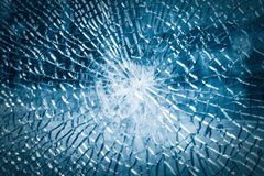 Broken tempered glass background Stock Photo