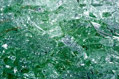 Broken tempered glass closeup , background of glass was smashed.  Royalty Free Stock Image