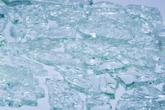 Broken tempered glass closeup , background of glass was smashed.  Royalty Free Stock Photography