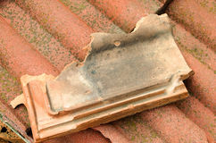 Broken terracotta tile Royalty Free Stock Photos