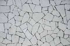 Broken texture of white wall. Some detail of Decoration Building in Shanghai Stock Image