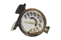Broken Thermometer. This is a thermometer that was destroyed in a grease fire Royalty Free Stock Photography