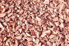 Broken tile. Broken slabs  of fired clay for covering roofs or lining walls or floors Stock Photos
