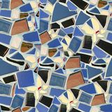 Broken Tile Mosaic. Seamless Texture Tile from Photographic Original Royalty Free Stock Photos