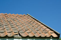 Broken tiled roof Stock Photos