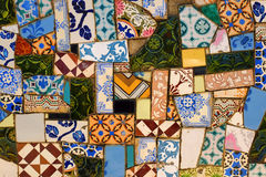 Broken Tiles Background Stock Photo