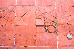 Broken tiles background Stock Images