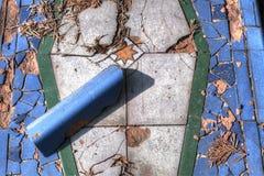 Broken tiles Stock Image