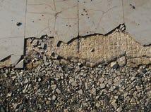 Broken tiles Stock Images