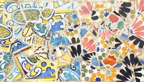 Broken tiles in Park Guell, Barcelona Stock Image