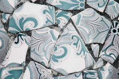 Broken tiles Royalty Free Stock Image