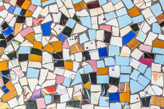 Broken tiles are reused for a floor Royalty Free Stock Photography
