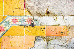 Broken tiles Royalty Free Stock Images