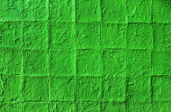 Broken tiles wall pattern - painted green Royalty Free Stock Images
