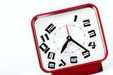 Broken Time Concept. Old 70s clock with falling numbers, Broken Time Concept Stock Photography