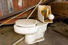 A broken toilet Royalty Free Stock Photo