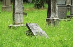 Broken tombstone Stock Image
