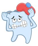 Broken tooth. Tooth pain due to untreated Stock Images