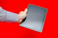 Broken touchscreen tablet Royalty Free Stock Photos