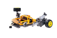 The broken toy car Royalty Free Stock Image