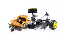 The broken toy jeep Stock Photography