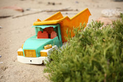 Broken toy truck Royalty Free Stock Photo