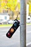 Broken traffic lights pole Royalty Free Stock Photos