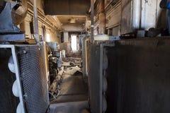 Broken Train Interior Stock Images