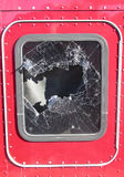 Broken truck window Royalty Free Stock Photos