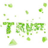 Broken trust, word crashed into pieces Stock Photography