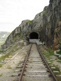 The broken tunnel. The broken abandoned tunnel in Norway Royalty Free Stock Photography