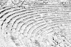 broken  in turkey europe  termessos  the old theatre abstract t Royalty Free Stock Images
