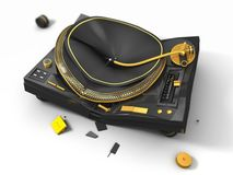 Broken turntable Stock Photography