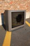 broken tv Arkivfoto