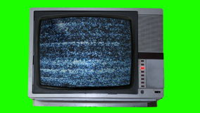 Broken TV on the green screen stock video