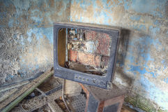 Broken TV Royalty Free Stock Photo