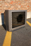 Broken TV Stock Photo